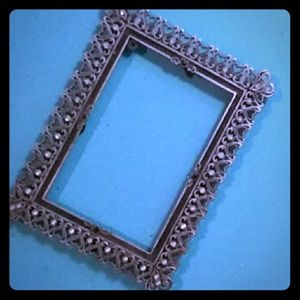 Antique vintage metal picture frame